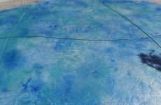 Blue Colored Custom Cement Deck