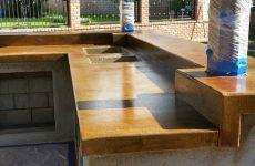Concrete BBQ Bar