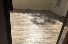 Concrete Wood Plank Patio