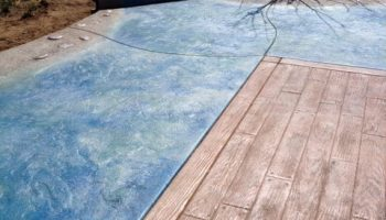 Custom Colored Stamped Concrete