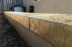 Custom Colored Stamped Concrete Wall