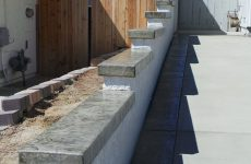 Custom Gray Stamped Concrete Wall
