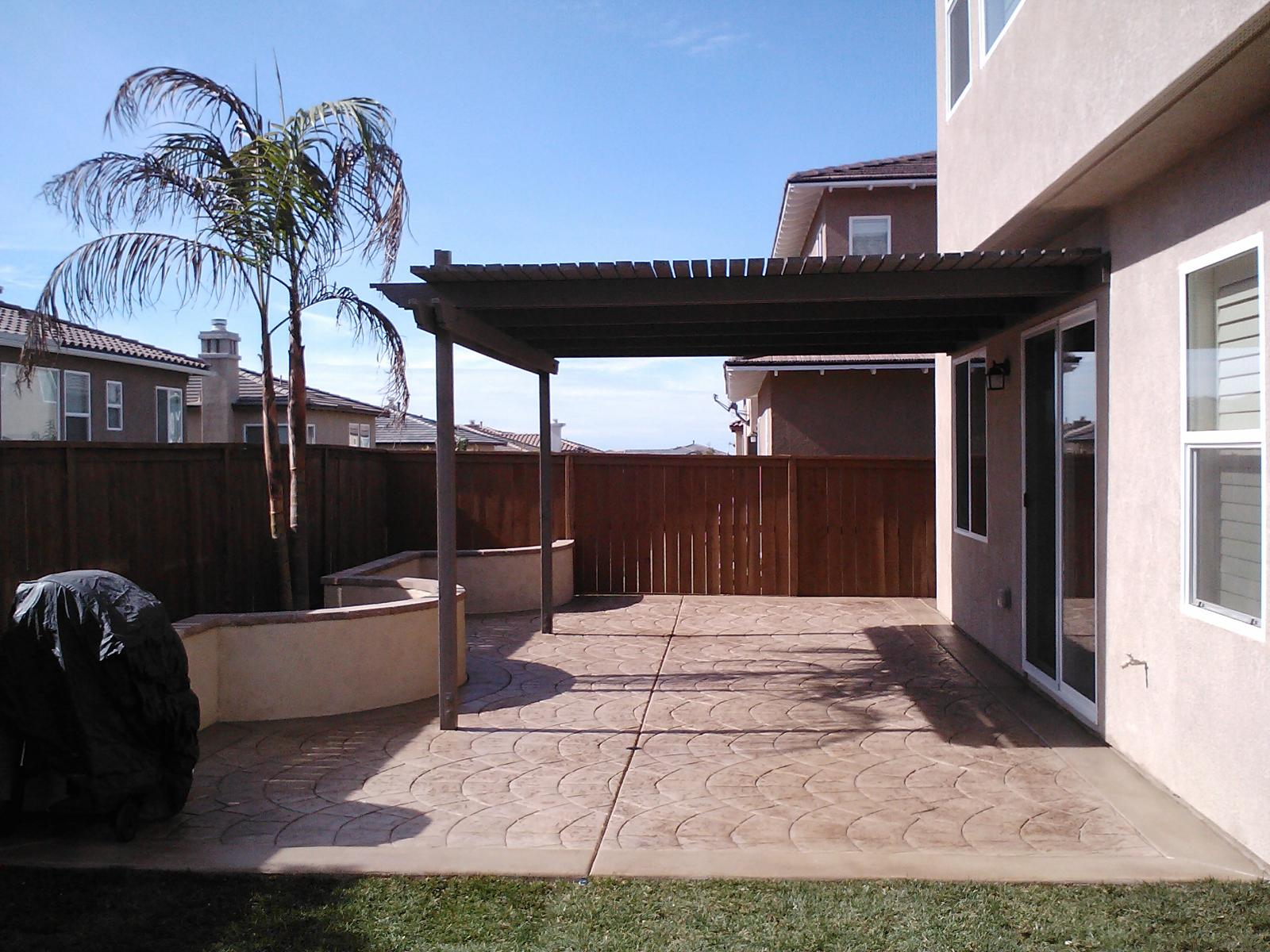 Stamped Patio Concrete Contractor San Diego, Decorative Concrete Patio Contractors