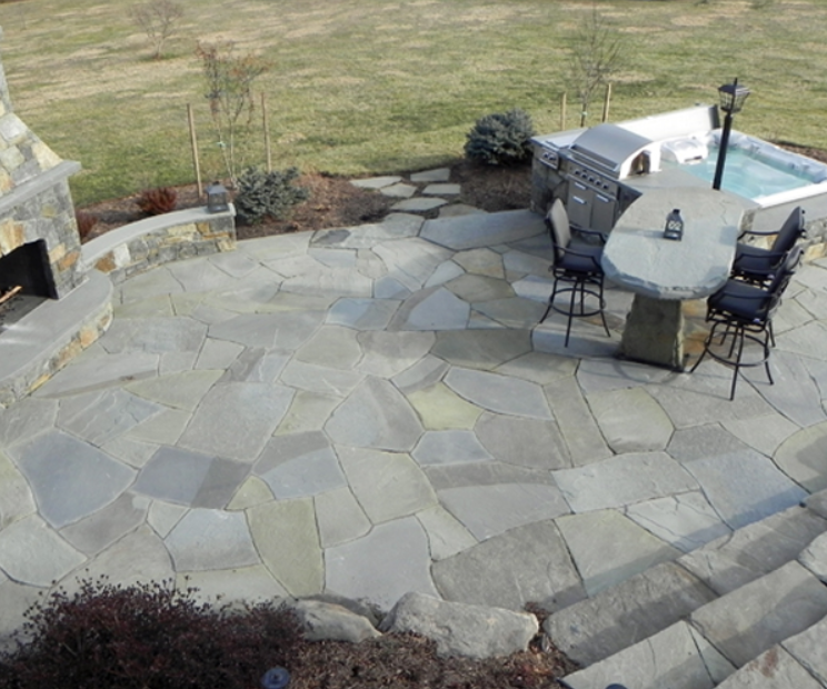 Cover Your Entrance With Flagstone Patio Concrete San Diego
