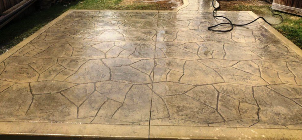 Stamped Concrete Driveways Upsurge Colored Aesthetics San Diego