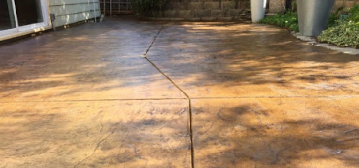 How To Renew Outdoor Stained Concrete Patio In San Diego